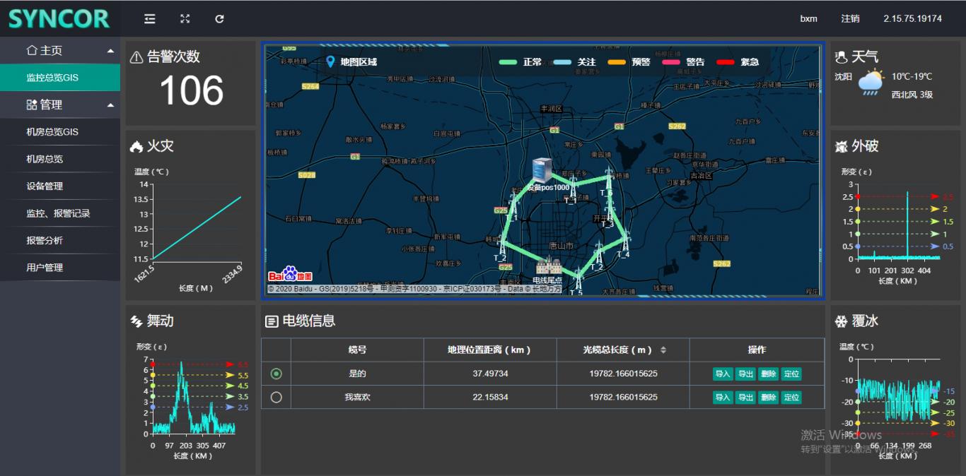 电缆地图定位展示