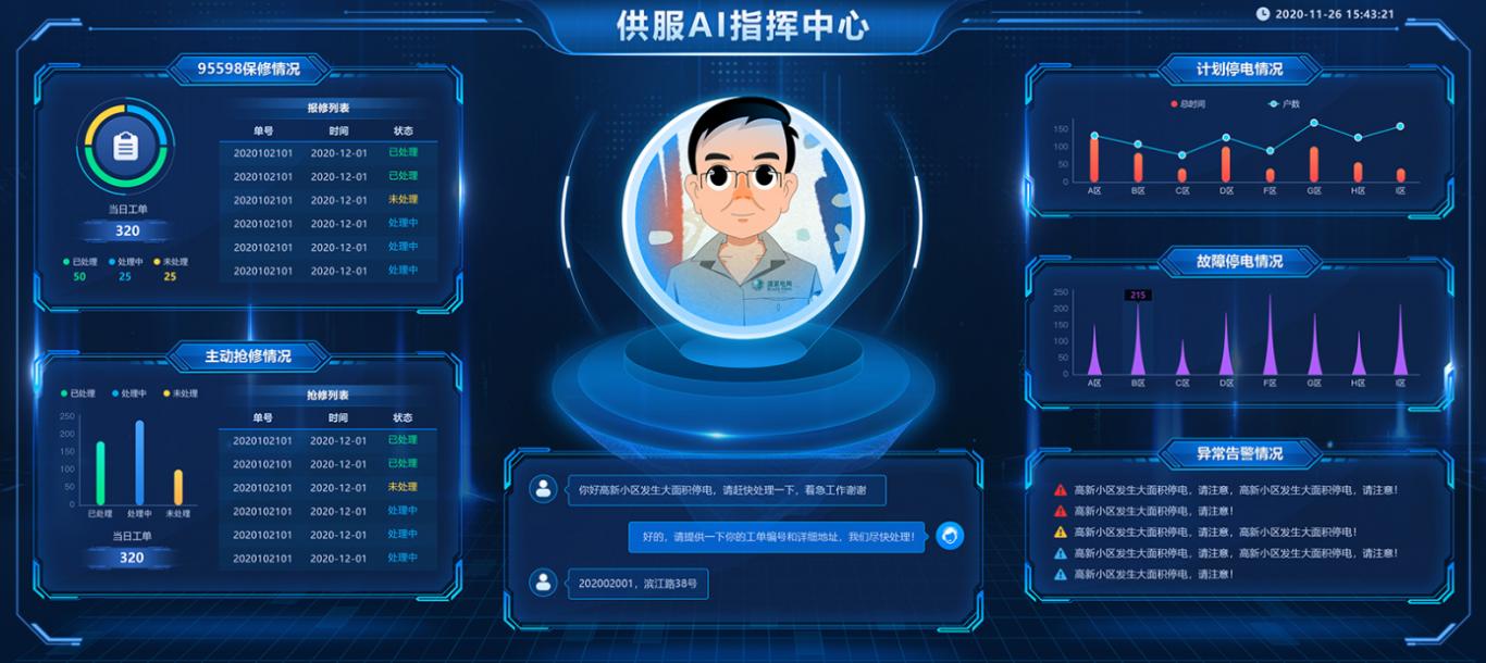 虚拟指挥员的大屏