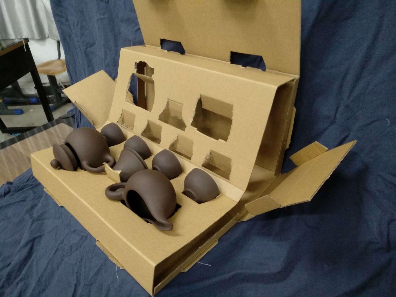 苏麻离青茶具系列包装设计